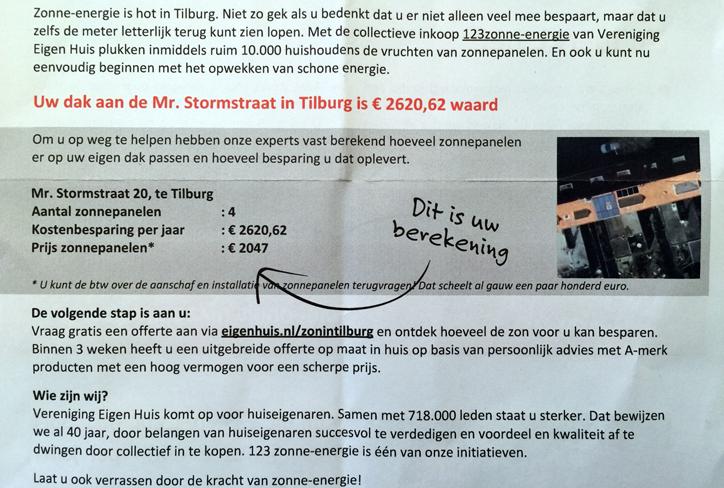 VEH en Sungevity beloven Tilburgse huiseigenaren koeien met gouden hoorns