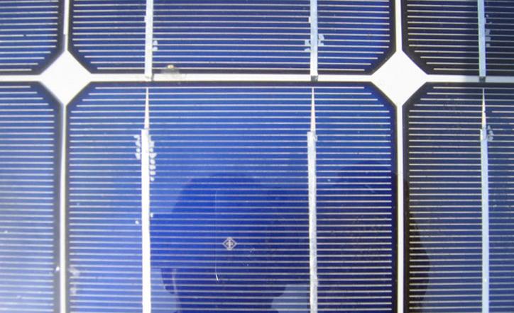 delaminatie in zonnepaneel